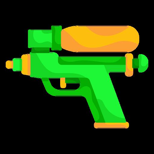 Green water gun flat