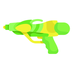 Green yellow water gun flat