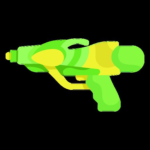 Green yellow water gun flat