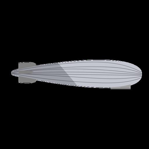 Dirigible gris plano