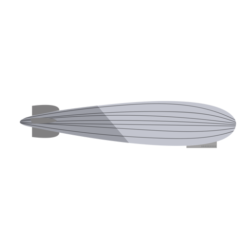 Grey airship flat