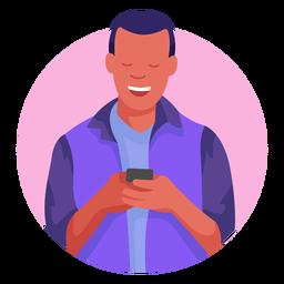 Personagem de celular de cara