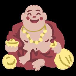 Happy buddha flat