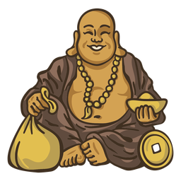 Happy buddha illustration