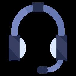 Flaches Symbol für Kopfhörer