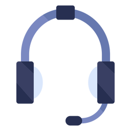 Ícone plano de fones de ouvido