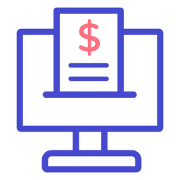 Health insurance computer stroke icon
