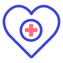 Heart medical care stroke icon