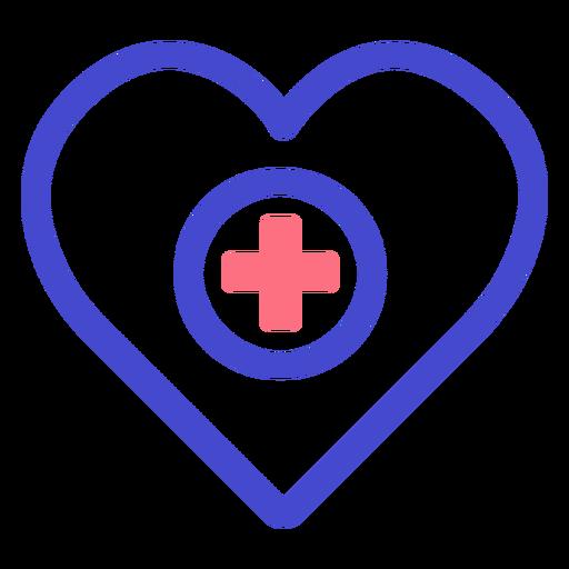 Heart medical care stroke icon