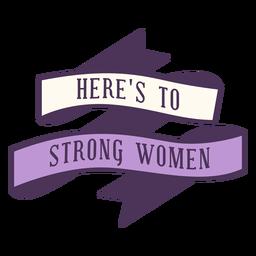 Aqui está o emblema de mulher forte