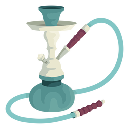 Hookah water pipe illustration
