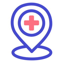 Hospital location stroke icon