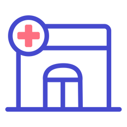 Hospital icono de accidente cerebrovascular hospital