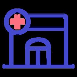 Hospital stroke icon hospital