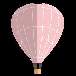 Balão de ar quente plano