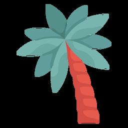 Ilustración de palmera inclinada