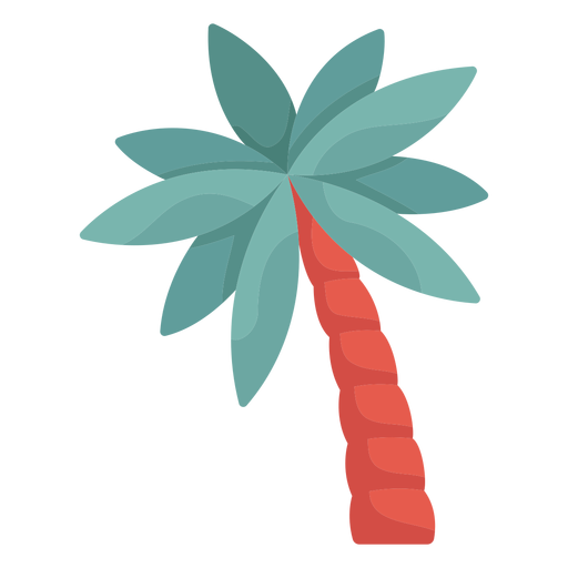Inclined palm tree illustration