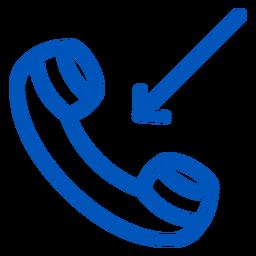 Icono de trazo de llamada entrante