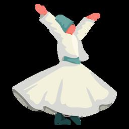 Ilustración de danza tradicional de Estambul