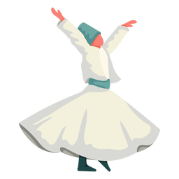 Istanbul traditional dance illustration