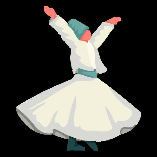 Ilustración de danza tradicional de Estambul Transparent PNG