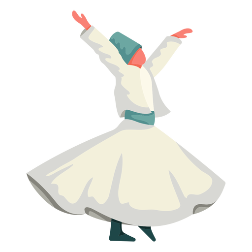 Istanbul traditional dance illustration Transparent PNG