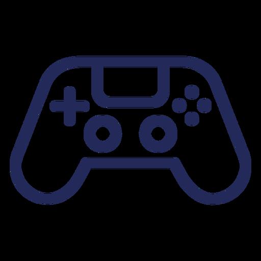 Icono de trazo de jugador de joystick