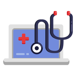 Laptop stethoscope icon