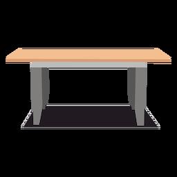 Ilustração de mesa retangular grande
