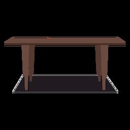 Ilustración de mesa de madera grande