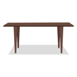 Large wooden table illustration