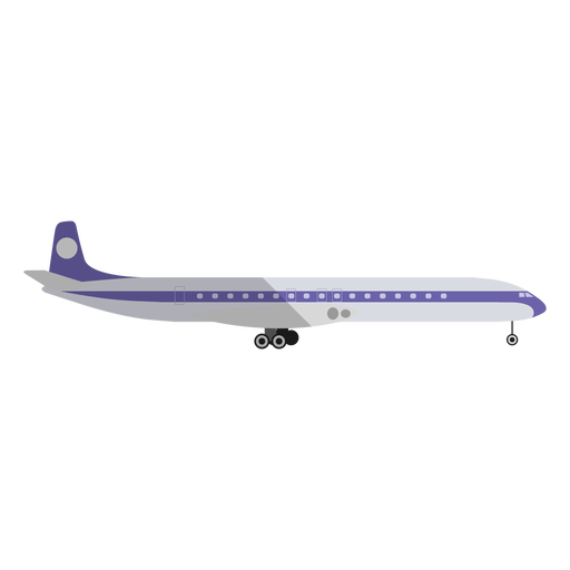 Light commercial airplane illustration