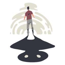 Personaje de hombre perdido