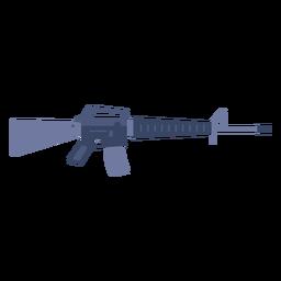 Fusil de asalto M16 plano