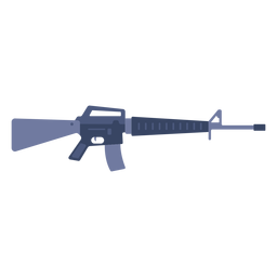 M16 assault rifle flat