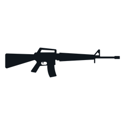 M16 assault rifle silhouette