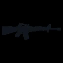 Silueta de rifle de asalto M16