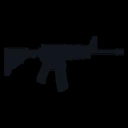 Machine gun silhouette