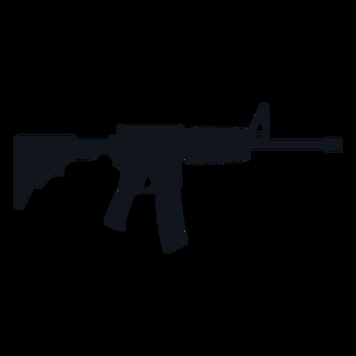 Silhueta de metralhadora