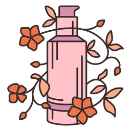 Makeup foundation floral illustration