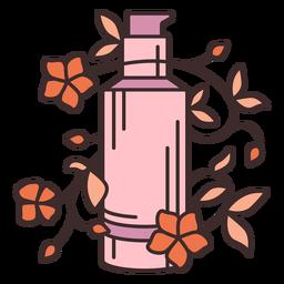 Maquillaje fundación floral ilustración