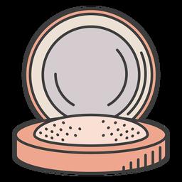 Ilustración de maquillaje en polvo