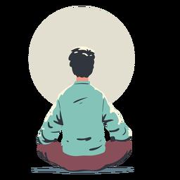 Hombre haciendo personaje de yoga