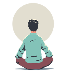 Man doing yoga character