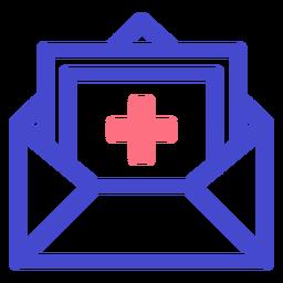 Icono de trazo sobre médico