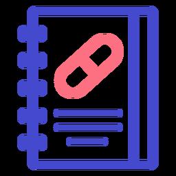 Ícone de traçado de caderno médico