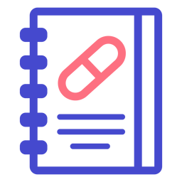 Medical notebook stroke icon