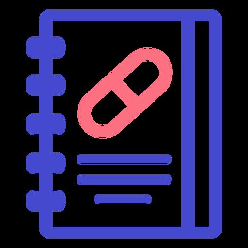 Medical notebook stroke icon