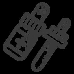 Icono de botella de medicina blanco y negro