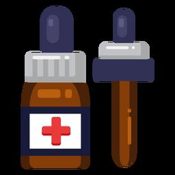 Icono de botella de medicina medicina